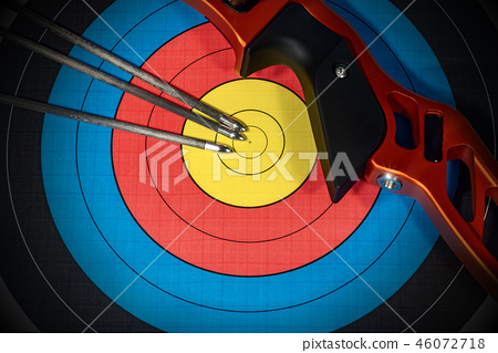 Target with Bow and Arrows - Archery Sport 46072718