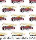 Vector image Pattern Groups Red Fire Trucks 46073650