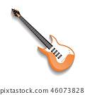 Orange bass guitar isolated icon 46073828