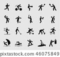 图标 运动 男性 46075849