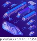3d isometric ultra violet urban transportation 46077356
