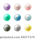 Colorful blank round buttons realistic vector set 46077374