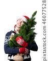 Man santa hat 46077528