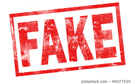 Fake in red ink stamp 46077830