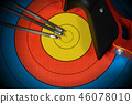 Target with Bow and Arrows - Archery Sport 46078010