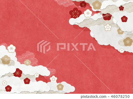 Japanese modern background material Japanese paper texture Plum red 46078250