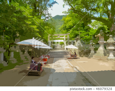 Kotohiragu Shrine approach, the surname of five people 46079328