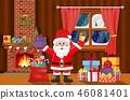 Santa Claus in Christmas room interior 46081401