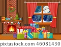 Christmas interior of room 46081430