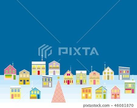 거리 크리스마스 밤 46081870