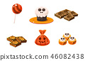 halloween, vector, candy 46082438