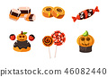 halloween, vector, candy 46082440