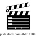 clapperboard icon 46083184