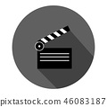 clapperboard icon 46083187