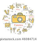 icons summer holidays 46084714