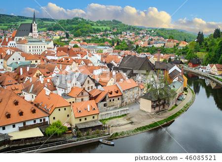 동유럽 체코의 작은 도시 체스키크롬로프  46085521