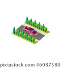 Isometric front right view pickup 46087580