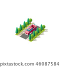 Isometric front left view pickup 46087584