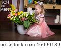 girl, dress, flower 46090189