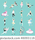 Ballet And Ballerinas Isometric Icons 46093116