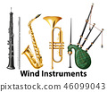 Set of wind instruments 46099043