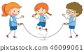 绳索 跳 玩耍 46099061