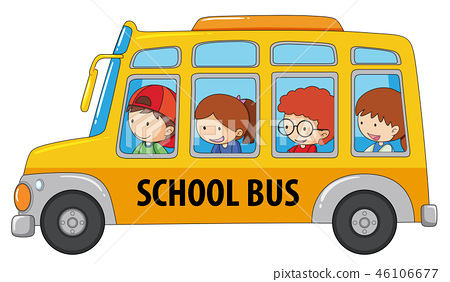 Student taking school bus 46106677