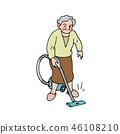 청소하는 할머니 46108210