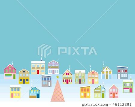 城市景觀聖誕節 46112891
