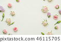 rose bud mix white background tender floral layout 46115705