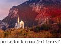 Neuschwanstein Castle sunset view, Germany 46116652