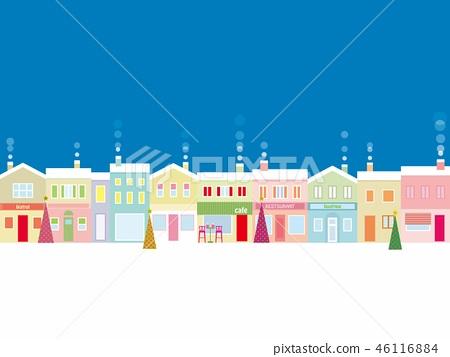 都市風景聖誕節 46116884
