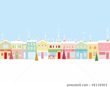 都市風景聖誕節 46116903