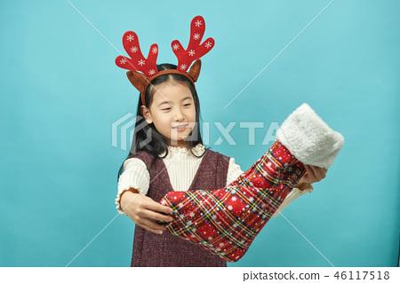 선물, 크리스마스,아이, 어린이, 여자아이 46117518