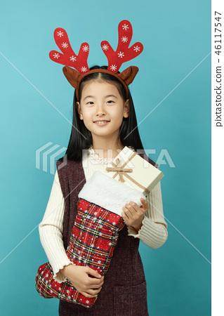 선물, 크리스마스,아이, 어린이, 여자아이 46117547