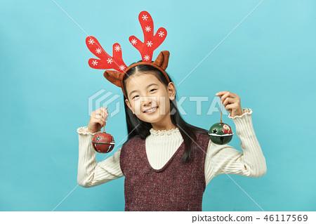 크리스마스,아이, 어린이, 여자아이, 종 46117569