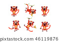 monkey, lemur, cartoon 46119876