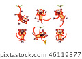 monkey, lemur, cartoon 46119877