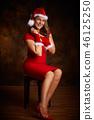 santa claus woman 46125250