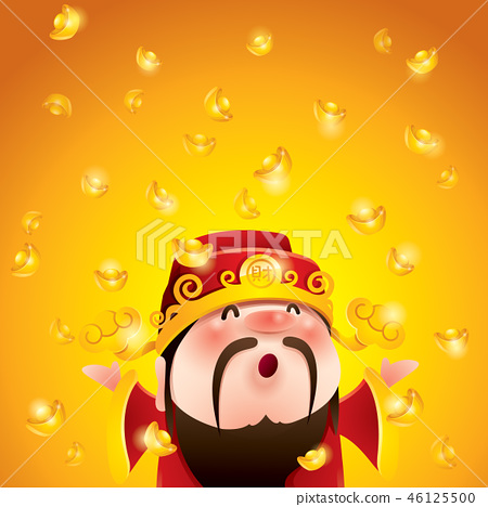 Chinese God of Wealth. Gold Falling. 46125500