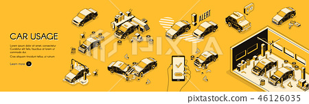 Car usage cost and risks vector infographics 46126035