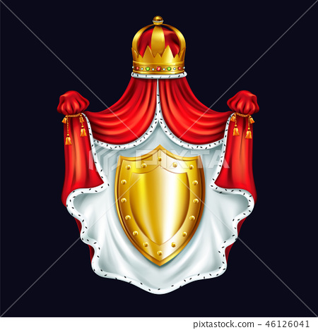 Heraldic emblem of royal family realistic vector 46126041