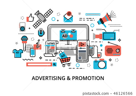 Concept of advertising, marketing and promotion 46126566