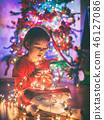 girl, gift, christmas 46127086