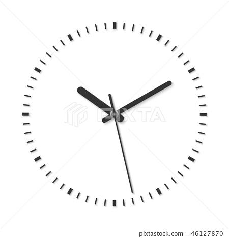 vector illustration of vintage analog clock  46127870