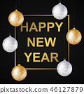 New Year card template 46127879
