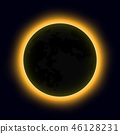 total solar eclipse, eclipse of the sun 46128231