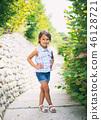 casual, posing, girl 46128721