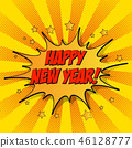 illustration of New Year celebration card template 46128777
