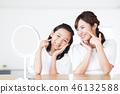家庭父母和兒童美容美容護膚家庭 46132588